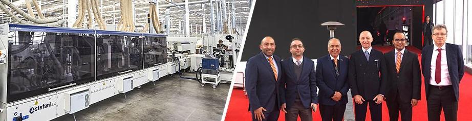 Directivos de SCM Groupy Mademaq en la Inauguración de planta productiva de fábrica de mueblesen Noviembre del 2018
